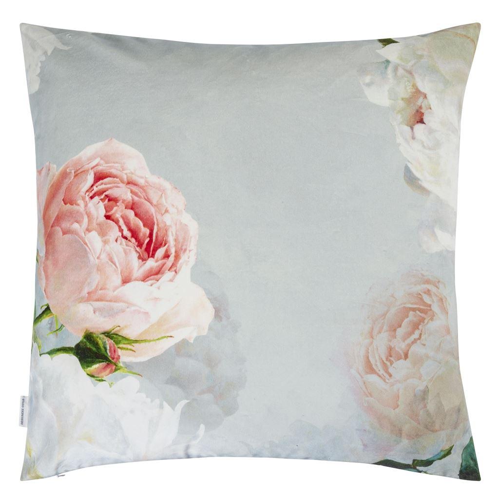 Designers Guild kudde CCDG0866 Peonia Grande Zinc Cushion 55 x 55 cm