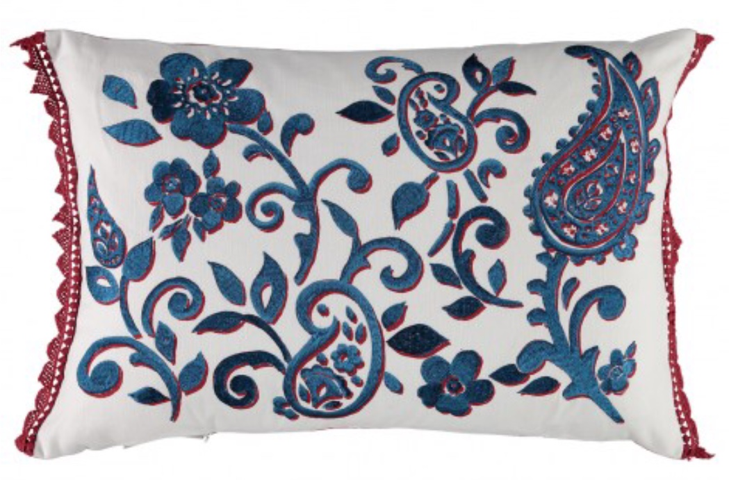 William Yeoward Kudde FLORETTA PAISLEY - ROUGE WYC00136X