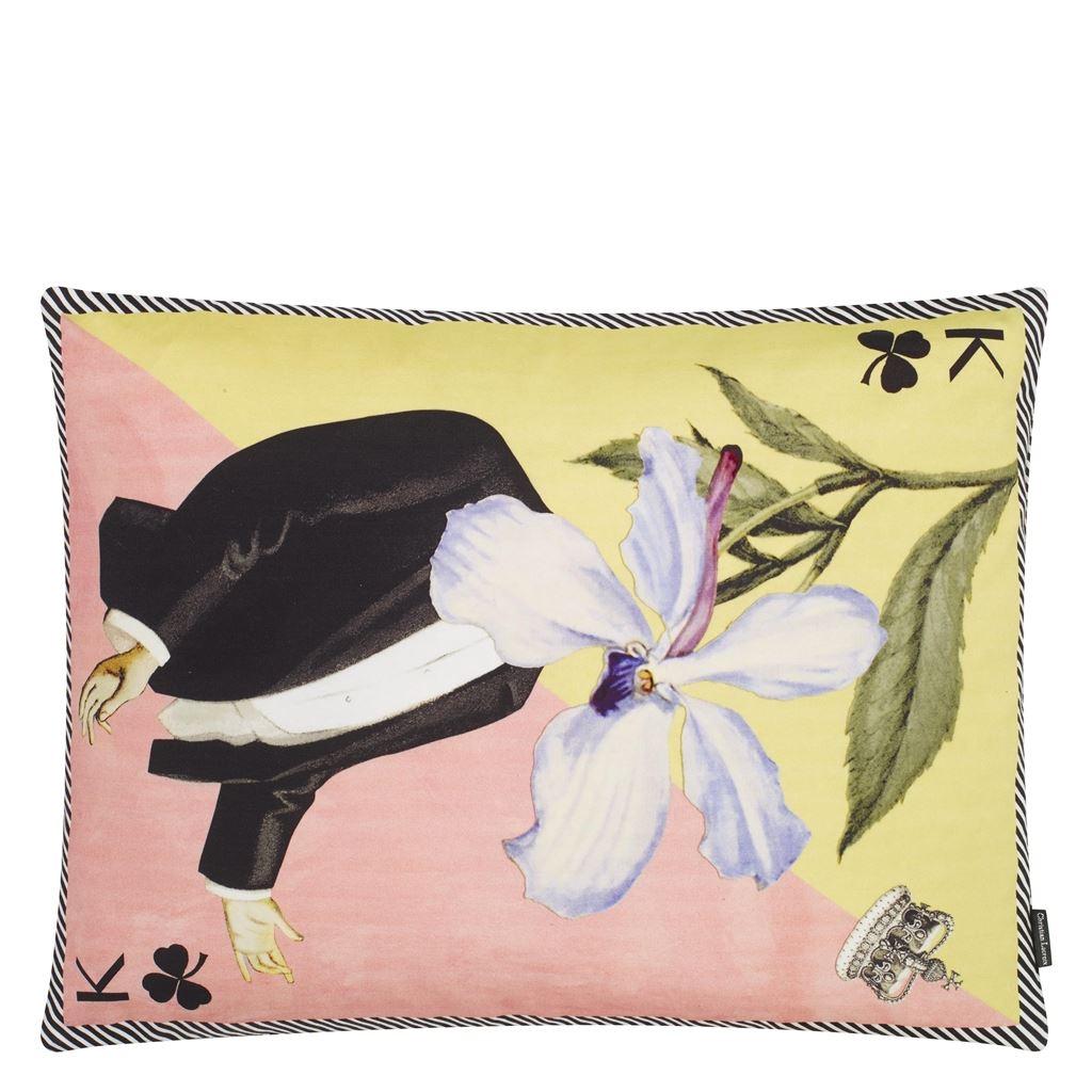 Christian Lacroix Kudde Monsieur Fleur Bleu Nigelle Cushion 60 x 45cm CCCL0577