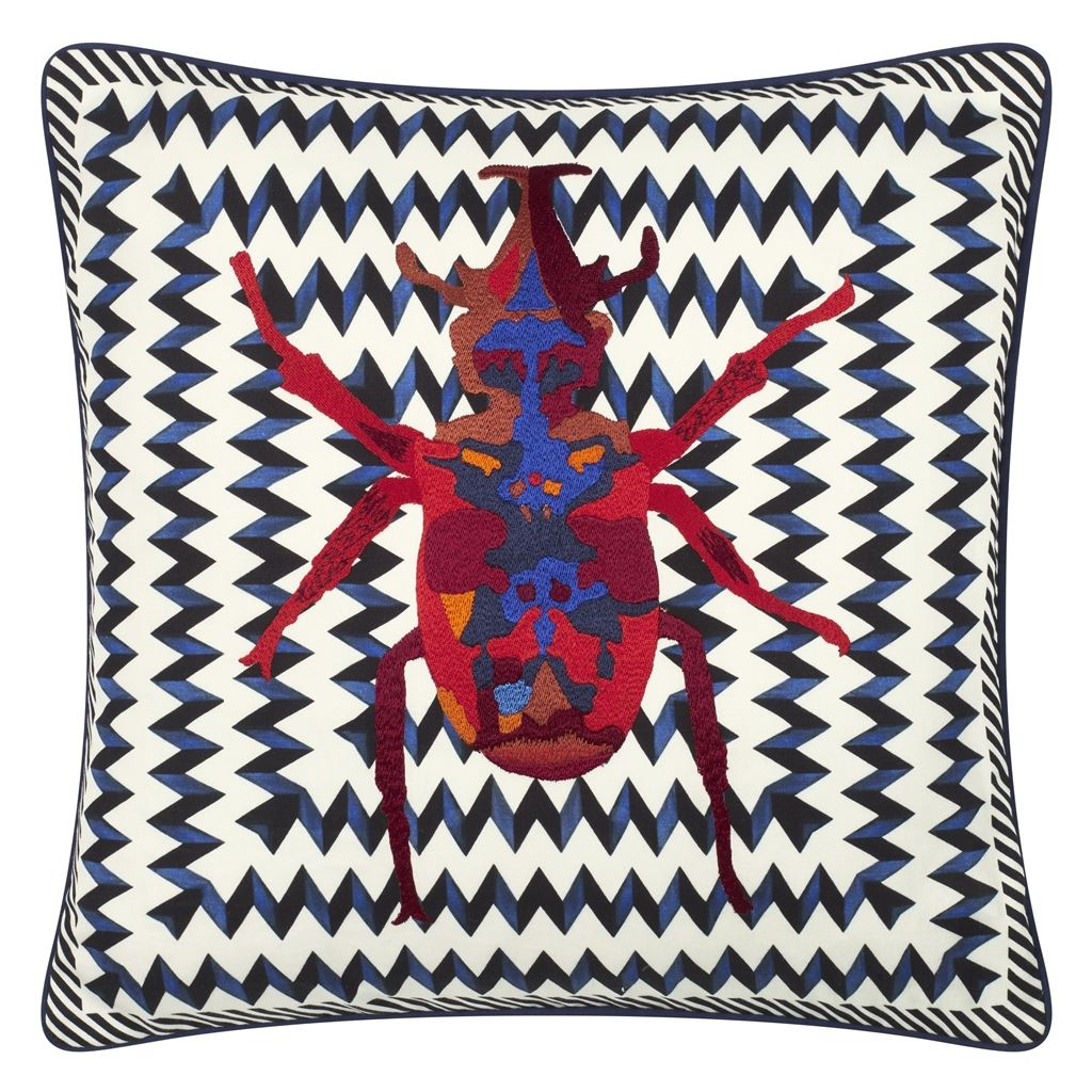 Christian Lacroix Kudde Beetle Waves Oeillet Cushion 40 x 40cm CCCL0575