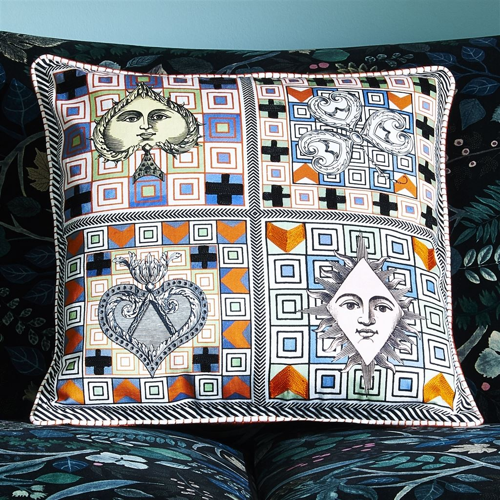 Christian Lacroix Kudde Poker Face Multicolore Cushion 50 x 50cm CCCL0573