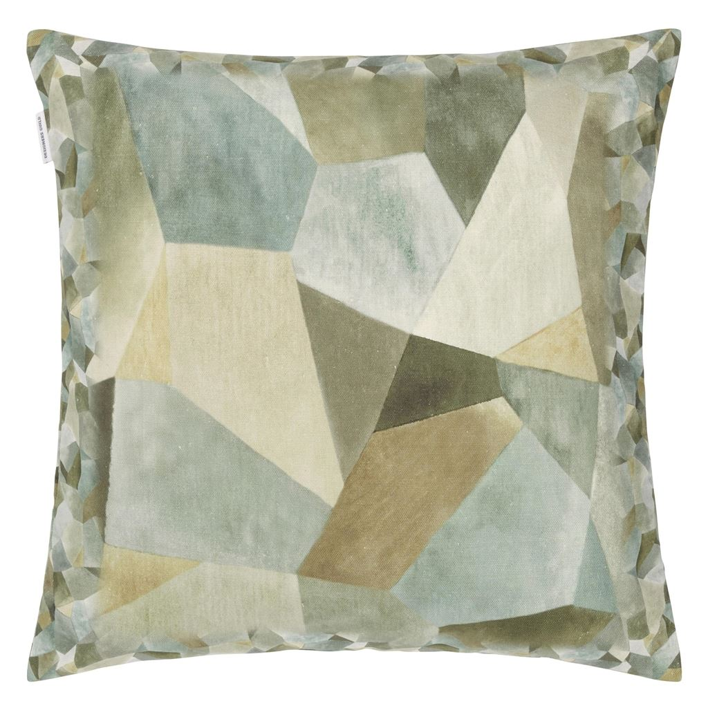 Designers Guild Kudde Geo Moderne Pewter Cushion 50 x 50cm CCDG0931