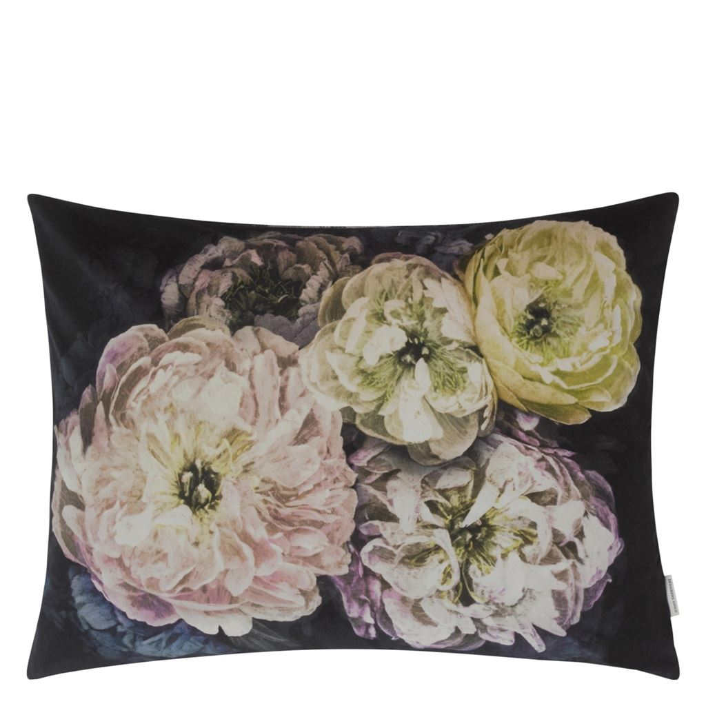 Designers Guild Kudde Le Poeme De Fleurs Midnight Cushion 60 x 45cm CCDG0925