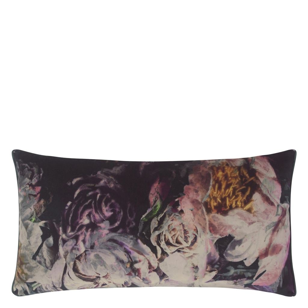 Designers Guild Kudde Fleur De Nuit Noir Cushion 60 x 30cm CCDG0923