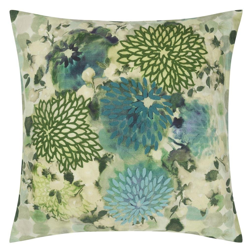 Designers Guild Kudde Japonaiserie Azure Cushion 50 x 50cm CCDG0917