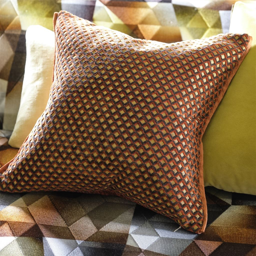 Designers Guild Kudde Portland Terracotta Cushion 43 x 43cm CCDG0956