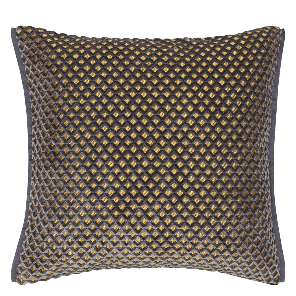 Designers Guild Kudde Portland Graphite Cushion 43 x 43cm CCDG0957
