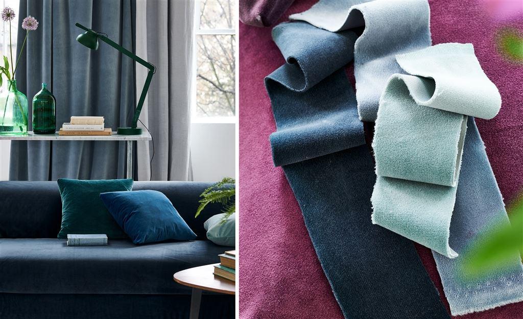 Designers Guild Tygkollektion sammet VELLUTO FABRICS bredd 300 cm till gardin och möbler