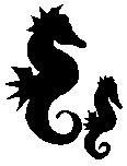 Encaustic Art - Stämpel - Sjöhästar