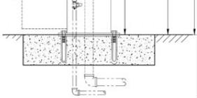 Gjuts in i betongfundament
