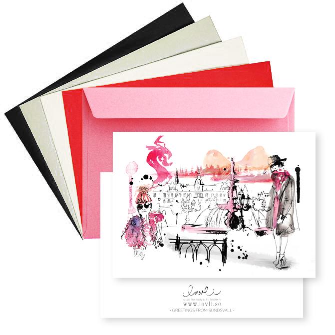 Kort + kuvert