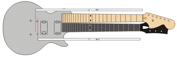 Skallängd på en stratocaster vs Les Paul