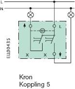 Kronströmbrytare kopplingsschema