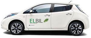 Eksjö kommuns första elbil - en Nissan Leaf -invigdes lördagen den 21 september