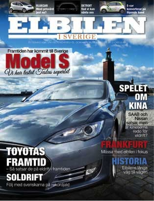 Tidningen Elbilens första omslag