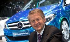 Thomas Weber, utvecklingschef på Mercedes med B-Class Electric Drive