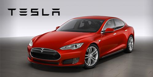 Provkör Tesla Model S i Täby