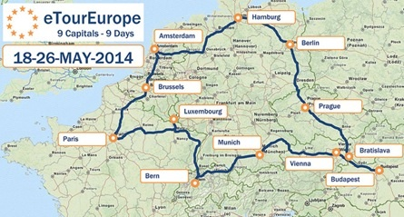 eTourEurope -Rally med elbilar genom Europa