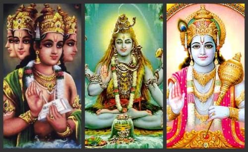 Brahma, Shiva och Vishnu