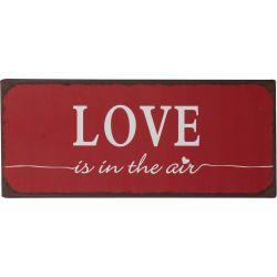 IB Laursen Metall Skylt Love is in the air