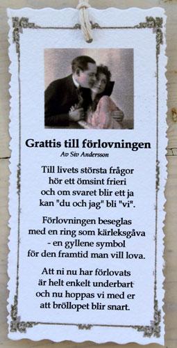 dikt grattis Diktkort   Grattis till förlovningen | Butik Älva dikt grattis
