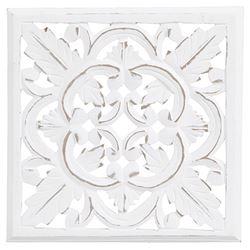 Carve Tempeltavla/Väggdekoration, vit 30x30