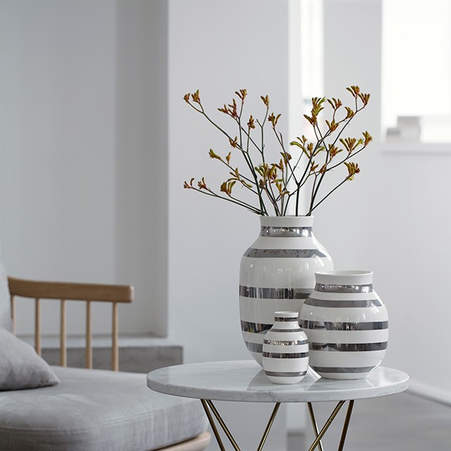 omaggio stor silver vas