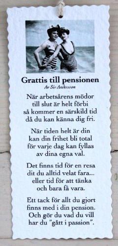 grattis till pensionen kort Diktkort   Grattis till pensionen | Butik Älva grattis till pensionen kort