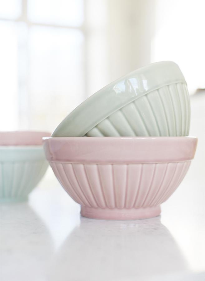 leila skål flute rosa 26,5 cm