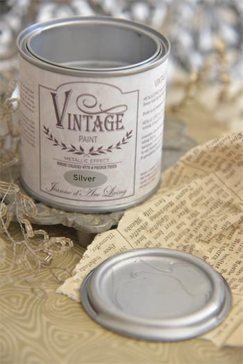 vintage paint silver