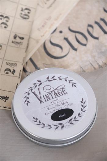 vintage paint vax svart
