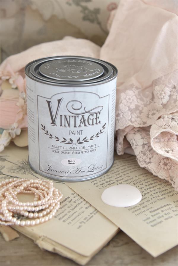 vintage paint baby rose stor