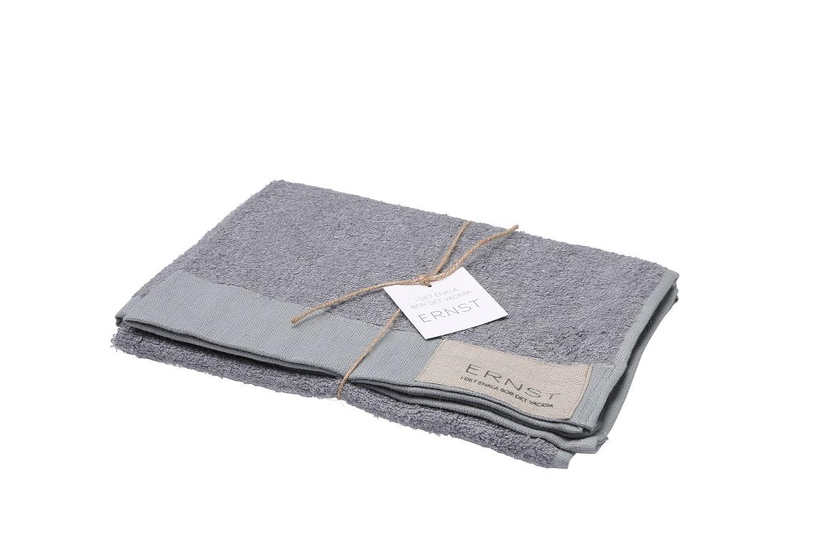 ernst grå frottehandduk