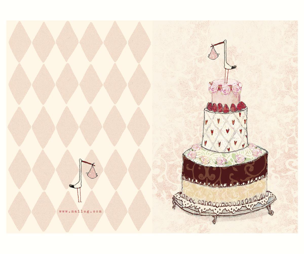 gratulationer till Kort   Maileg Gratulationer till nyfödd flicka | Butik Älva gratulationer till