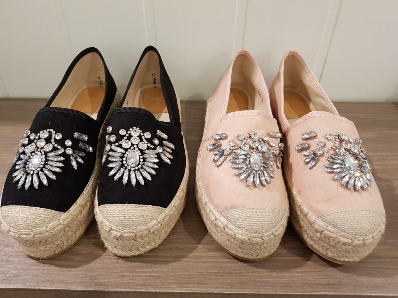 gemini sko svart och rosa