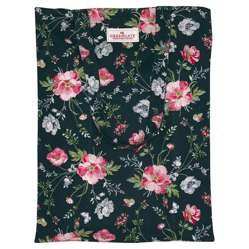 GreenGate Meadow Black Shoping bag