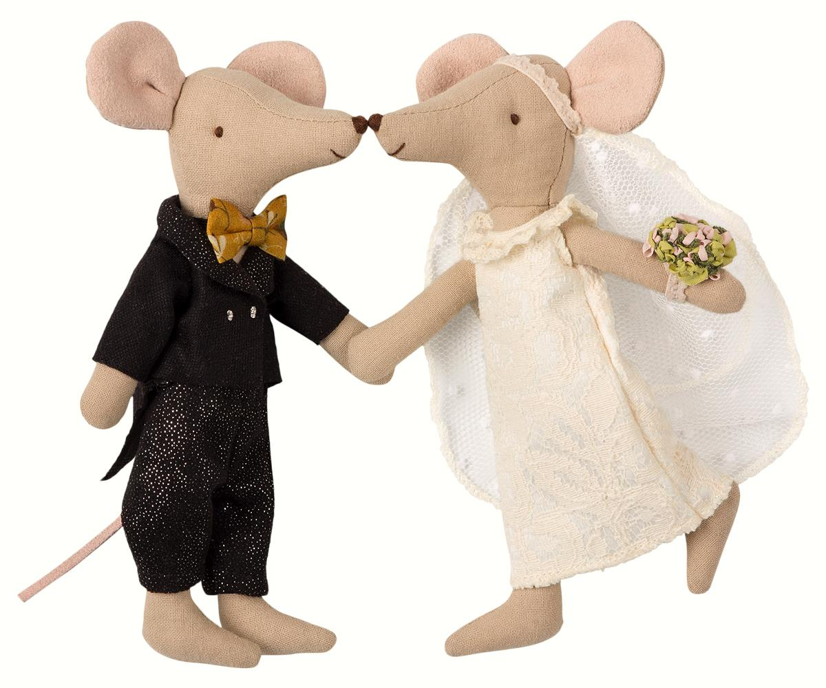 maileg weddingh mice couple