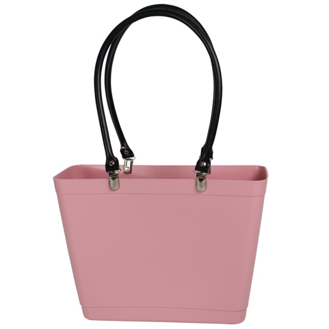perstorp sweden bag dusty pink läderhandtag