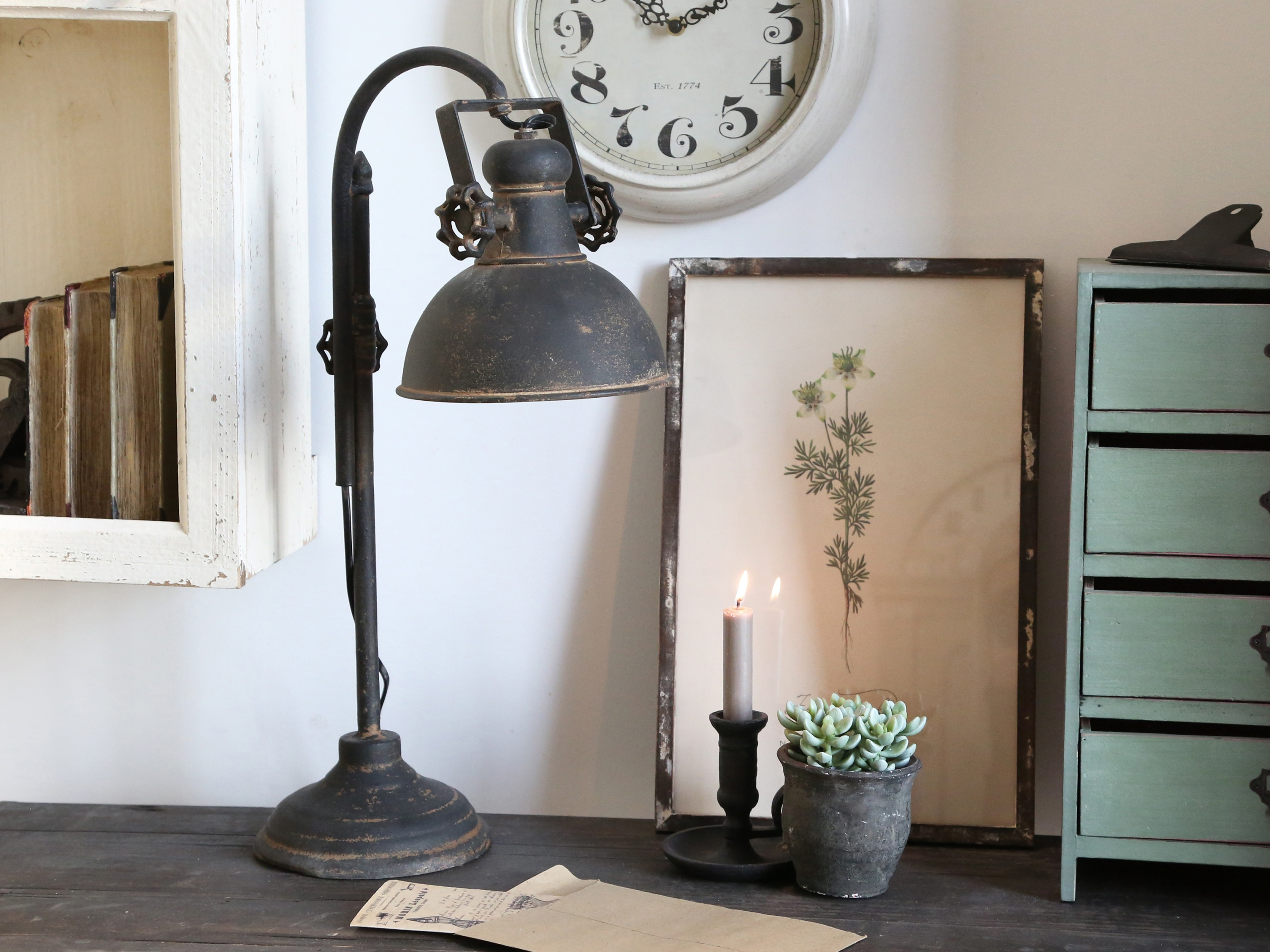 chic antique bordslampa factory