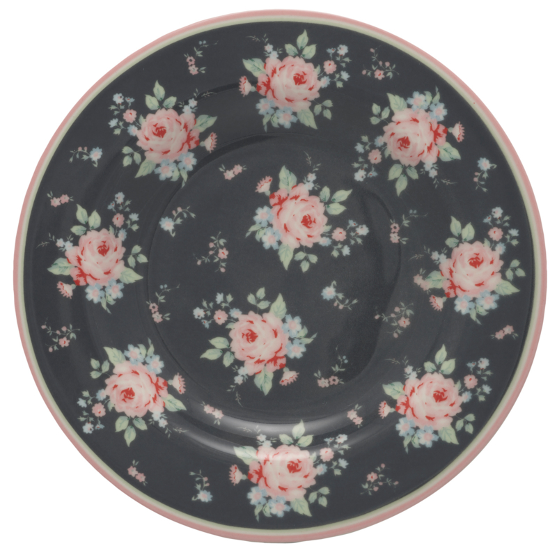 greengate marley dark grey small plate