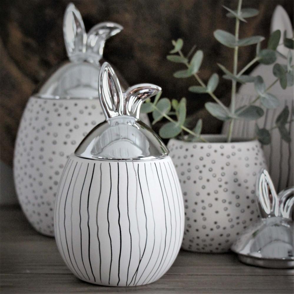 maja kaninburk vit silver liten