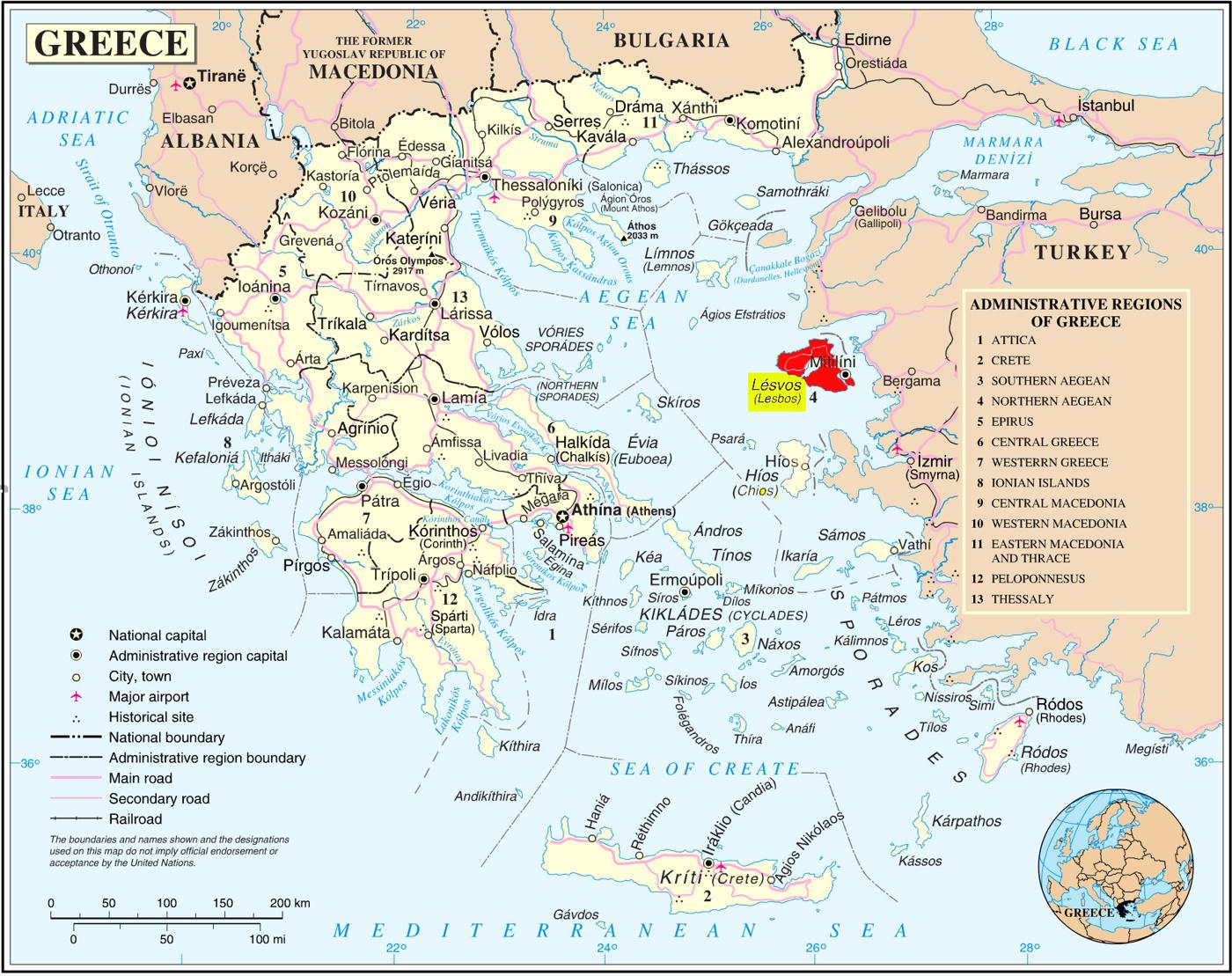 grekiska öar karta