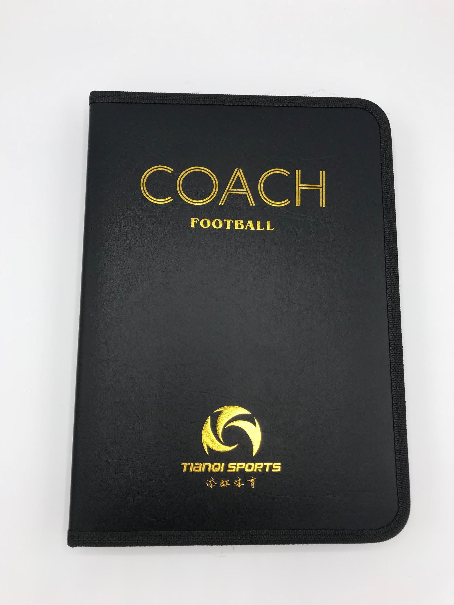 coach fotboll svart pärm