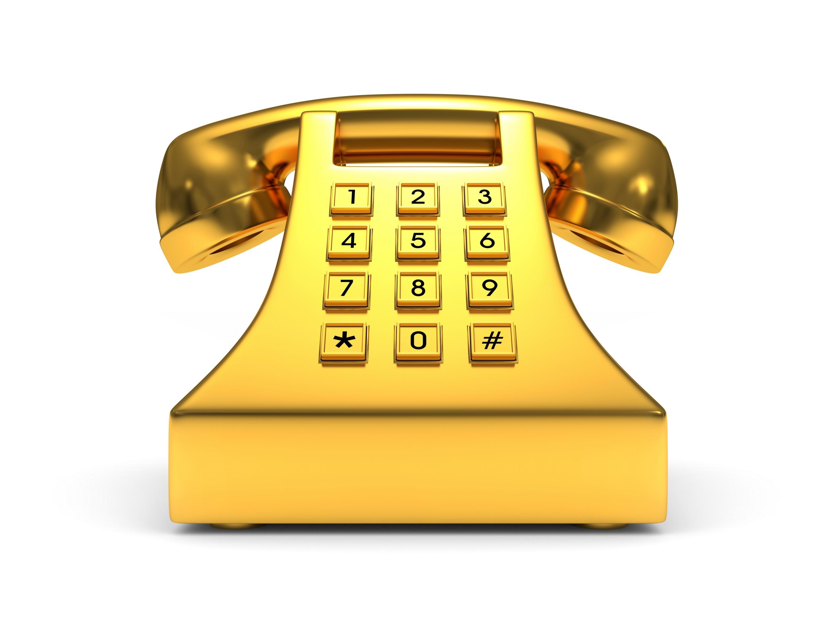 Gold Phone shutterstock_86205580
