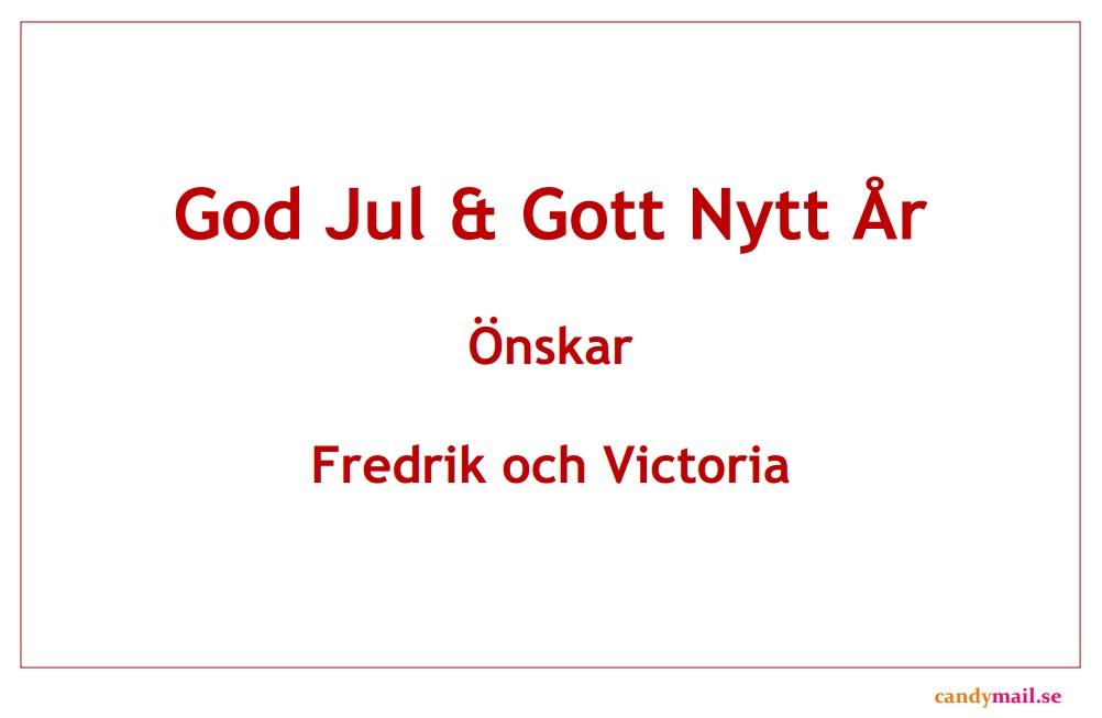 God Jul & Gott Nytt ÅR exempelbild ny design 2016