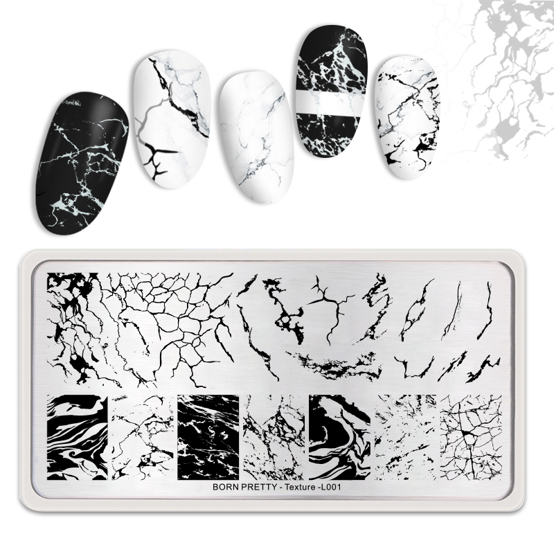 BORN-PRETTY-Rectangle-Nail-Stamping-Plates-Marble