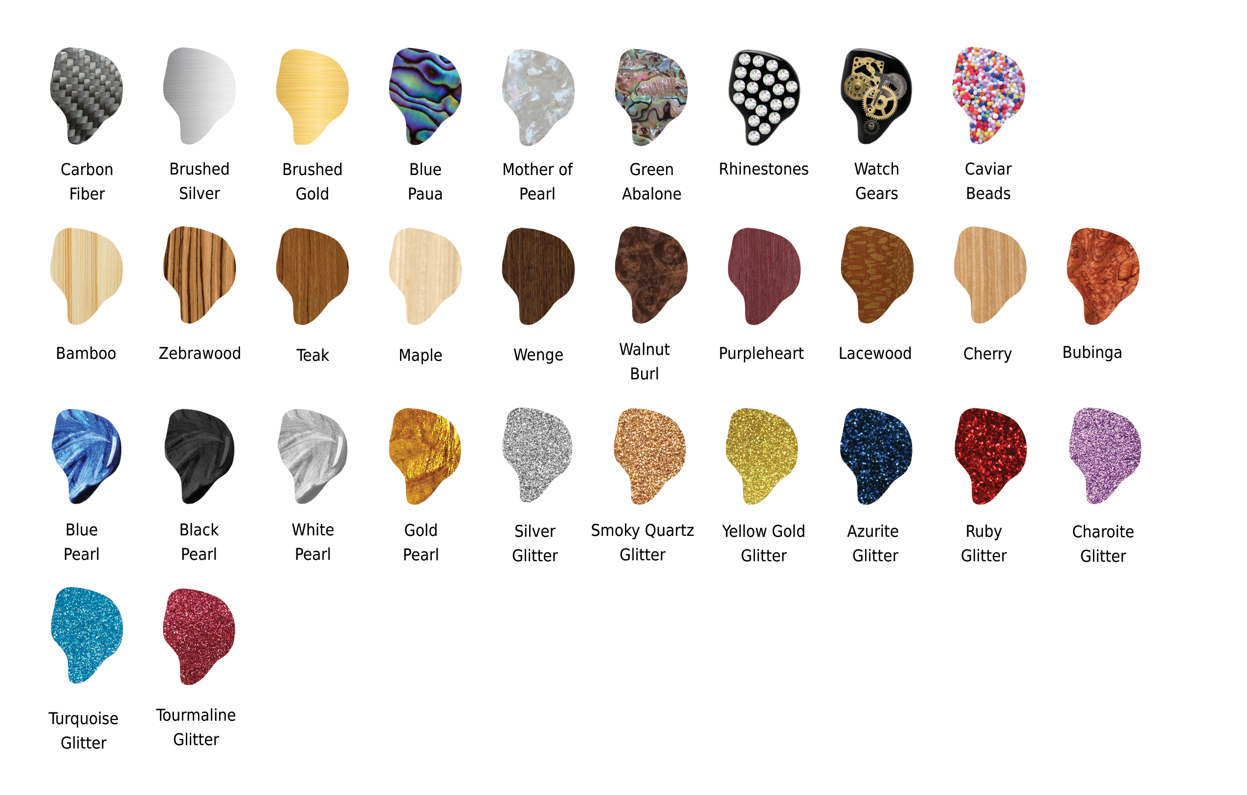 Faceplate colors
