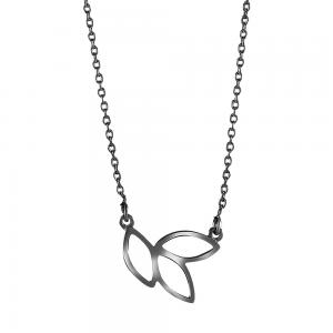 Nordahl Andersen - Botanic svart rhodium 13mm halsband