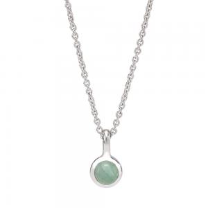 Nordahl Andersen - Sweets green aventurine silver 5mm halsband