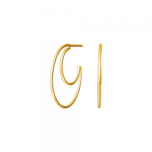 Nordahl - Moon 24mm örhängen guld